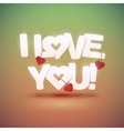 I love you text with hearts vector image vector image