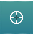 icon of crosshair vector image vector image