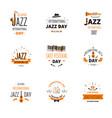 jazz music day international holiday trumpet vector image