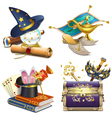 Magic Concept Icons vector image vector image