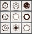 Mandala set 10 eps vector image