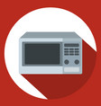 microwave icon in flat style with long shadow vector image vector image