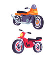 motorbikes isolated on white background vector image