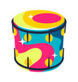musical drum vector image