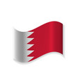 official flag of bahrain vector image