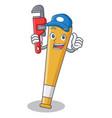 plumber baseball bat character cartoon vector image vector image