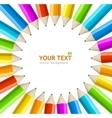 rainbow pencils frame vector image vector image