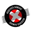 Received damage rubber stamp