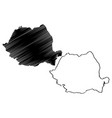 romania map vector image vector image