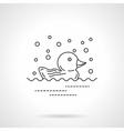 Rubber duck icon flat line design icon vector image vector image
