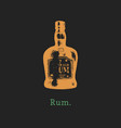 rum bottle hand drawn vector image vector image