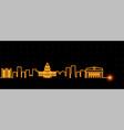 sacramento light streak skyline vector image