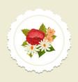 scandinavian floral label vector image
