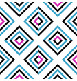 seamless geometric colored striped pattern with vector image vector image