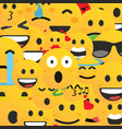 set emoticons set emoji smile icons vector image