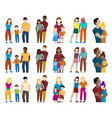 set people silhouettes vector image