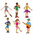six children vector image vector image