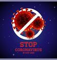 stop coronavirus covit - 19 china wuhan vector image