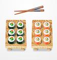 sushi set Philadelphia classic vector image