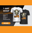 t-shirt template fully editable with wild boar vector image