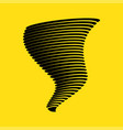 tornado symbol isolated on yellow background vector image vector image
