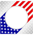 usa flag symbolism poster card with clean space vector image vector image
