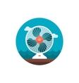Ventilator icon Summer Vacation vector image vector image