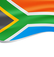 Waving flag of South Africa isolated on white vector image vector image