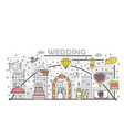 wedding concept flat line art vector image vector image
