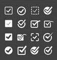 white confirm icons set vector image vector image