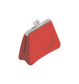 women red purse isometric 3d icon vector image vector image