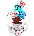 Wonder Tea Party pyramid vector image vector image