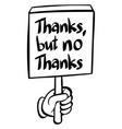 word expression for thanks but no thanks vector image