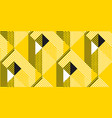 yellow and black geometric modern seamless pattern vector image