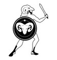 zodiac in the style of ancient greece aries greek vector image