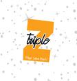 single letter logotype vector image