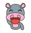 hippo baby animal funny image vector image