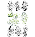 artistic flowery designs vector image