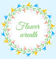 a wreath in the form of a circle of woven vector image vector image