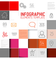 abstract red squares background infographi vector image vector image