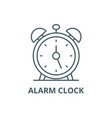 alarm clock line icon alarm clock outline vector image vector image