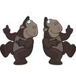 ape dancing vector image vector image