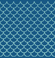 aqua fish scale seamless pattern background vector image vector image