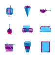 assembly of flat shading style pixel icon fast vector image vector image
