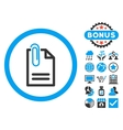Attach Document Flat Icon with Bonus vector image