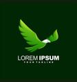 awesome bird animal logo design vector image vector image