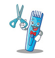 barber trimmer character cartoon style vector image