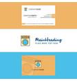 beautiful washing machine logo and business card vector image