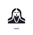 black moses isolated icon simple element from vector image vector image