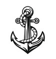 black nautical anchor vector image